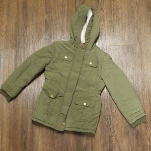 Girls Cat and Jack winter coat/jacket Army green